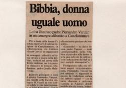 Bibbia, donna uguale uomo