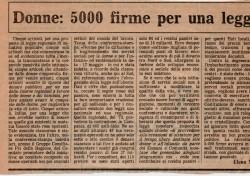Donne: 5000 firme per una legge