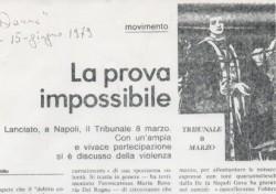 La prova impossibile. Lanciato a Napoli il Tribunale 8 marzo.
