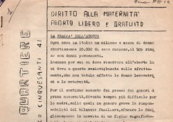 Comitato di quartiere San Lorenzo: Diritto alla maternità – Aborto libero e gratuito