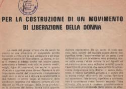 Per la costruzione di un movimento di liberazione della Donna