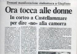 """Ora tocca alle donne. In corteo a Castellammare per dire """"no"""" alla camorra"""
