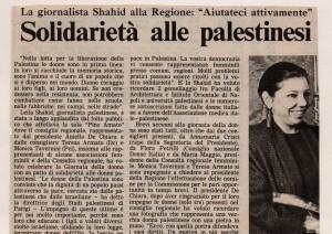 Solidarietà alle palestinesi
