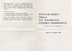 VII Rassegna Cinema Femminista