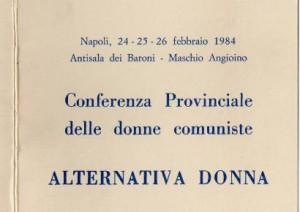 Conferenza provinciale delle donne comuniste – Alternativa Donna