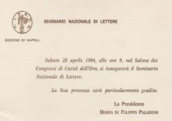 Seminario Nazionale di Lettere F.I.D.A.P.A