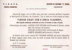 Louise Colet con e senza Flaubert