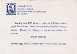 L'Araba Felice – Dacia Maraini
