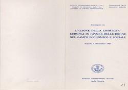 L'azione della Comunità Europea in favore delle donne nel campo economico e sociale