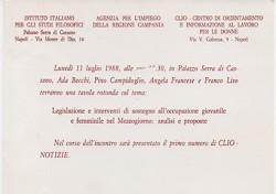 Legislazione e interventi di sostegno all'occupazione giovanile e femminile nel Mezzogiorno: analisi e proposte