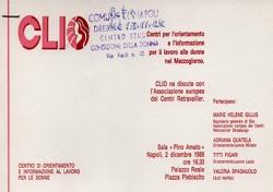 CLIO – Centri per l'orientamento e l'informazione per il lavoro alle donne nel Mezzogiorno