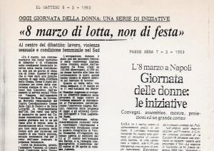 Rassegna stampa sulle iniziative del Marzo donna 1983