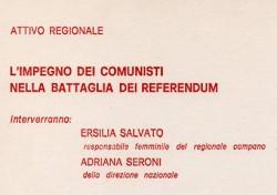 L'impegno dei comunisti nella battaglia dei referendum