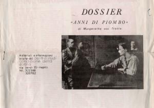 """Dossier su film """"Anni di Piombo"""""""