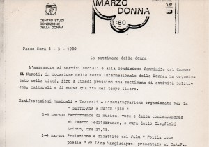 Rassegna stampa sulle iniziative del Marzo donna 1980