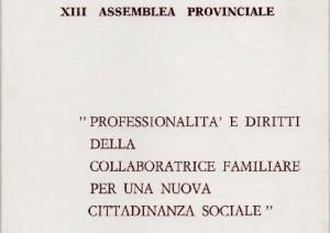 Professionalità e diritti della collaboratrice familiare per una nuova cittadinanza sociale