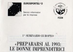 Prepararsi al 1993: le donne imprenditrici europee nel mercato unico