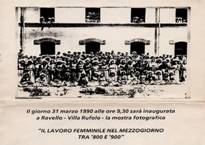 Il lavoro femminile nel Mezzogiorno tra '800 e '900