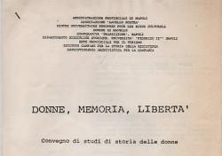Donne, Memorie, Libertà