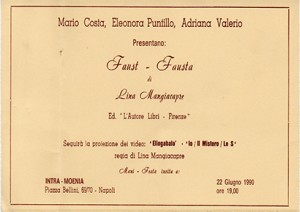 Faust – Fausta di Lina Mangiacapre