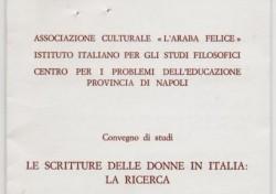 Le scritture delle donne in Italia: la ricerca