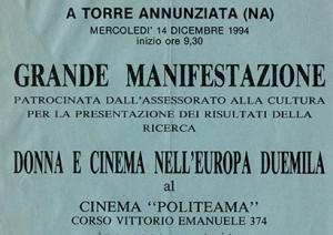 Donna e Cinema nell'Europa Duemila