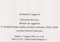 Donne in oggetto – L'antifascismo nella società italiana 1922 – 1939