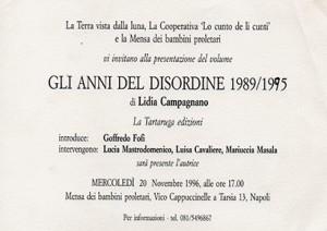 Gli anni del disordine 1989/1995