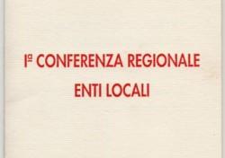 I Conferenza Regionale Enti Locali