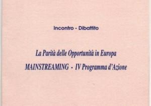 La Parità delle Opportunità in Europa: Mainstreaming – IV Programma d'Azione