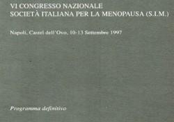 VI Congresso Nazionale Società Italiana per la Menopausa (S.I.M.)