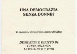 Una Democrazia senza Donne?