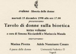 Tavolo di donne sulla bioetica
