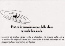 Pratica di armonizzazione della sfera sessuale femminile