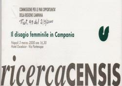 Il disagio femminile in Campania