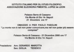 Omaggio a Pier Paolo Pasolini