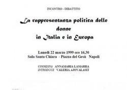La rappresentanza politica delle donne in Italia e in Europa