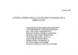 Lettera aperta delle lavoratrici napoletane a Berlusconi