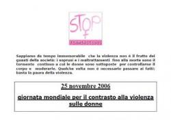 Giornata mondiale per il contrasto alla violenza sulle donne