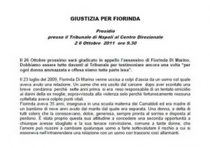 Giustizia per Fiorinda – 26 ottobre 2011