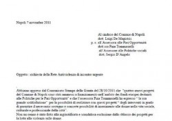 Lettera al Sindaco di Napoli