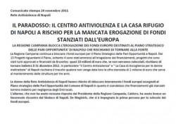 Il paradosso: il Centro Antiviolenza e la Casa Rifugio di Napoli a rischio