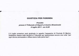 Giustizia per Fiorinda – 6 luglio 2011