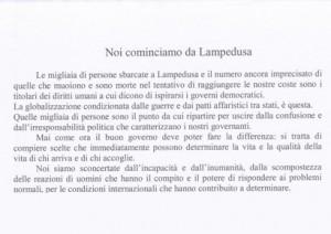 Noi cominciamo da Lampedusa