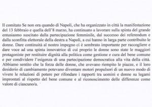 Il comitato Se non ora quando di Napoli