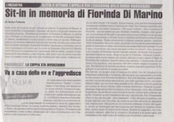 Sit – in in memoria di Fiorinda Di Marino