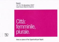 Città: femminile, plurale.