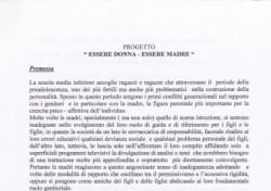 """Progetto """"Essere Donna – Essere Madre"""""""