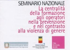 La centricità della formazione agli operatori nella prevenzione e nel contrasto alla violenza di genere