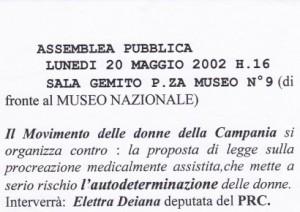 Assemblea pubblica del Movimento delle donne della Campania
